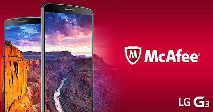 LG 3G features best McAfee Mobile Security